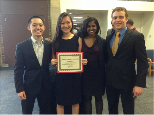 """On May 6, RUMTA was celebrated at the 2014 Scarlet Awards in Organizational Excellence. The purpose of the ceremony is to recognize student organizations and individuals who have displayed and immense amount or leadership and dedication to the university.This year,RUMTA received the """"Outstanding Small Student Organization Award"""". The award was both very competitive and one of the highest honors at the ceremony. The young organization is proud to receive the honor and be recognized among the student body as one of the most successful campus organizations. Congratulations to the entire team for their hard work and dedication!"""
