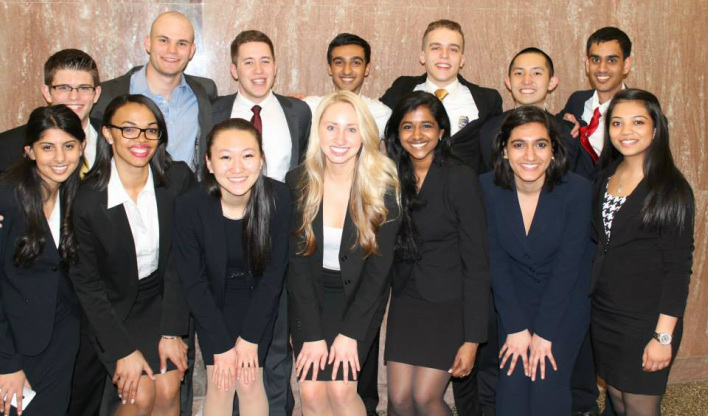 Both Team A and Team B went to the Open Round Championships hosted by the University of Virginia on the weekend of March 22-23, 2014. Together, the teams won a record-breaking number of personal awards with three Top Attorney Awards and three Top Witness Awards. President and senior Gregory Cui ended his collegiate mock trial career on a high note by winning both a Top Attorney and a Top Witness Award. In total, he won twelve personal awards throughout his time at Rutgers. Chirag Desai, Brandon Ferrick, and Ashley Daniel also received awards for their performances.