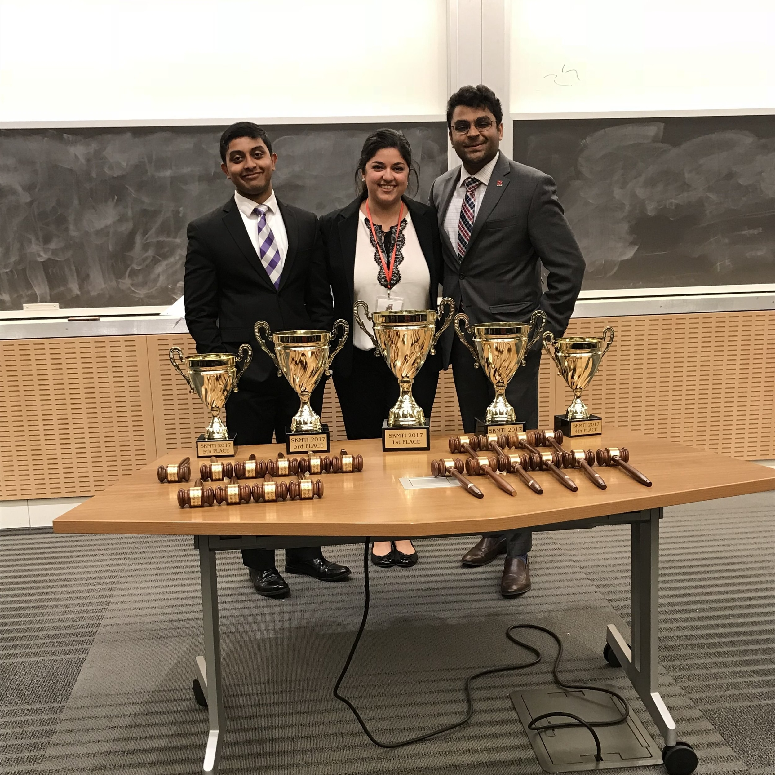 Michael Nanchanatt - Tournament Director, A-Team Captain                                                                           Nicoletta Eby - President                                                               Anish Patel - Tab Room Director, Coach