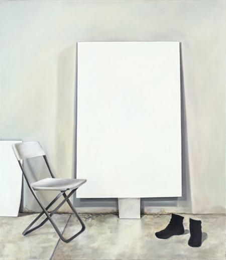 """Le Modele Rouge, 2012. Oil on canvas, 160 x 140cm / 53 x 63"""""""