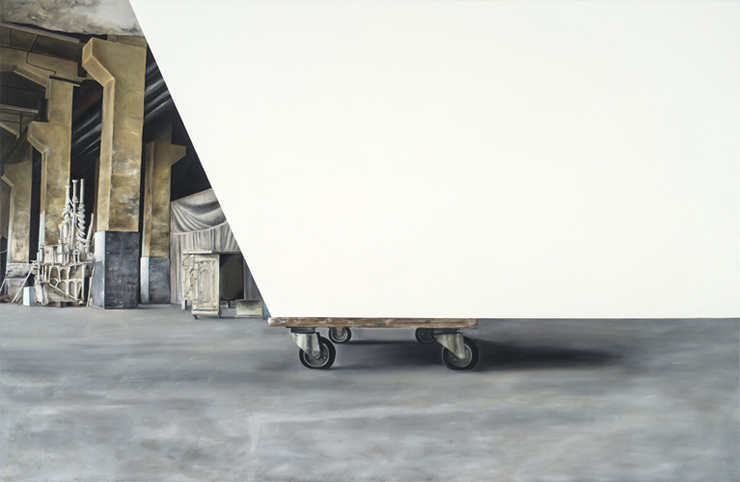 "Project Habakkuk (from Alexander Seiler studio visit) 2012. Oil on canvas 130 x 200cm / 51"" x 78.5"""