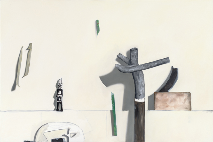 "Carte Blanche ( from Gregor Hiltner studio visit) 2012, OIl on canvas, 100 x 150cm / 39"" x 59"""
