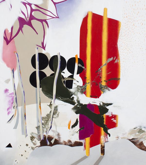 "The Stranger, 2015, Acrylic on canvas, 63"" x 56"""