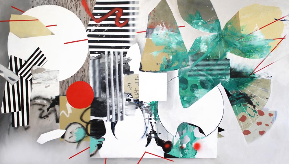 Chaos Theory, 2015, acrylic on canvas, 165cm x 285cm