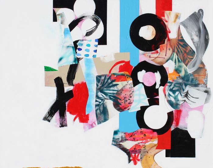 "Dynamic Nationalism, 2015, Acrylic on canvas, 49"" x 62"""