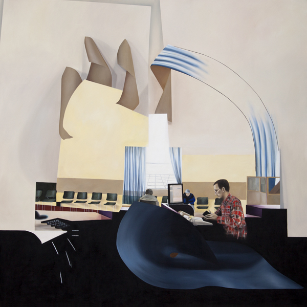 "Heterotopia, 2012, oil on canvas, 99"" x 99"""