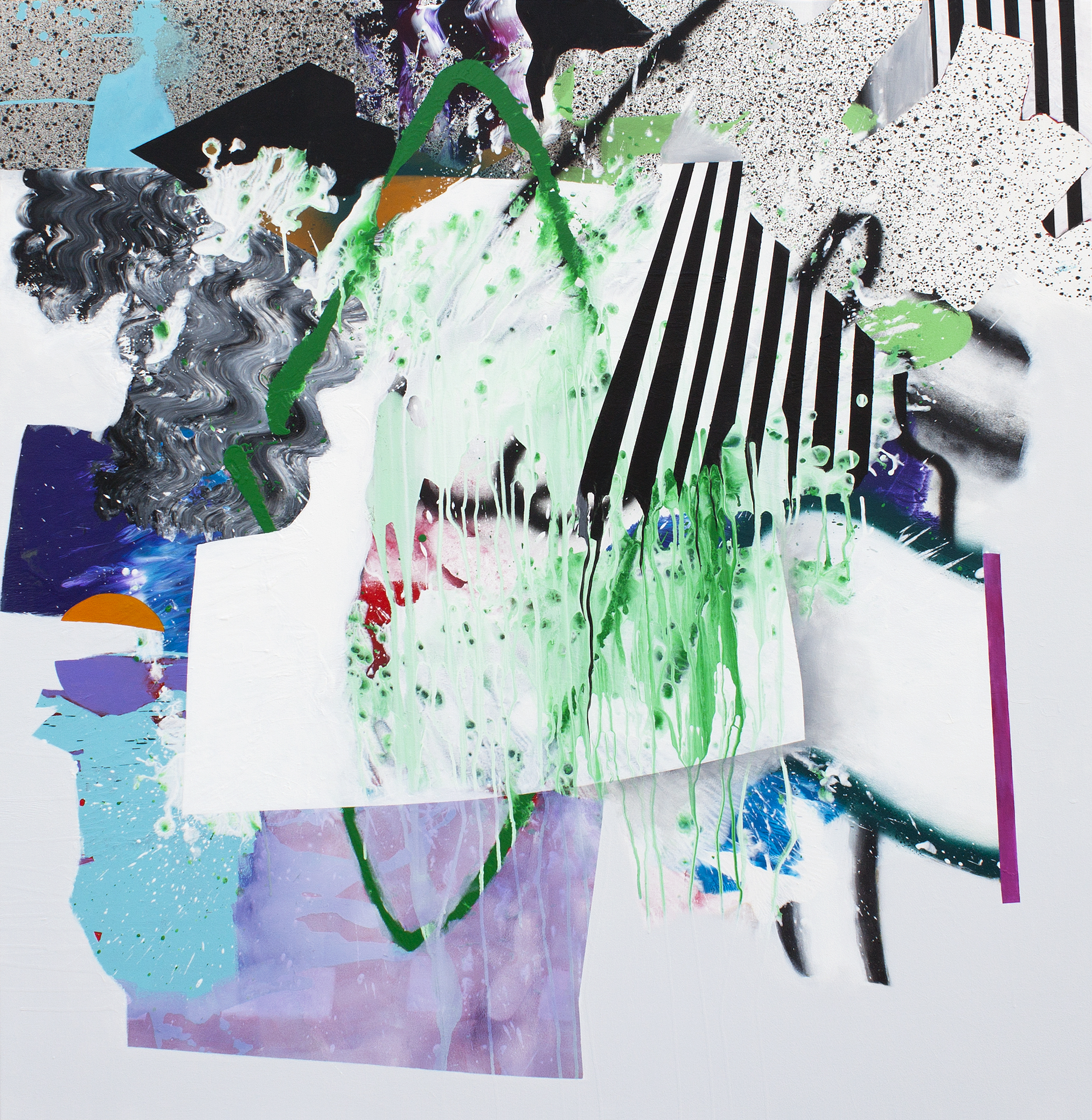 "Electronica 2014, acrylic on canvas, 60 x 60"""