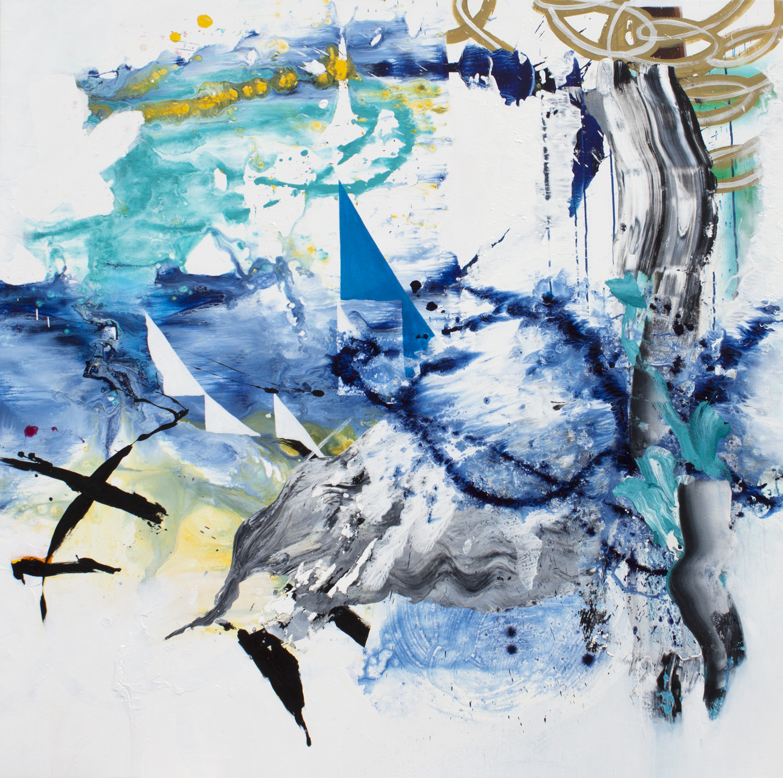 "The Journeyman Anthem 2014, acrylic on canvas 60"" x 60"""