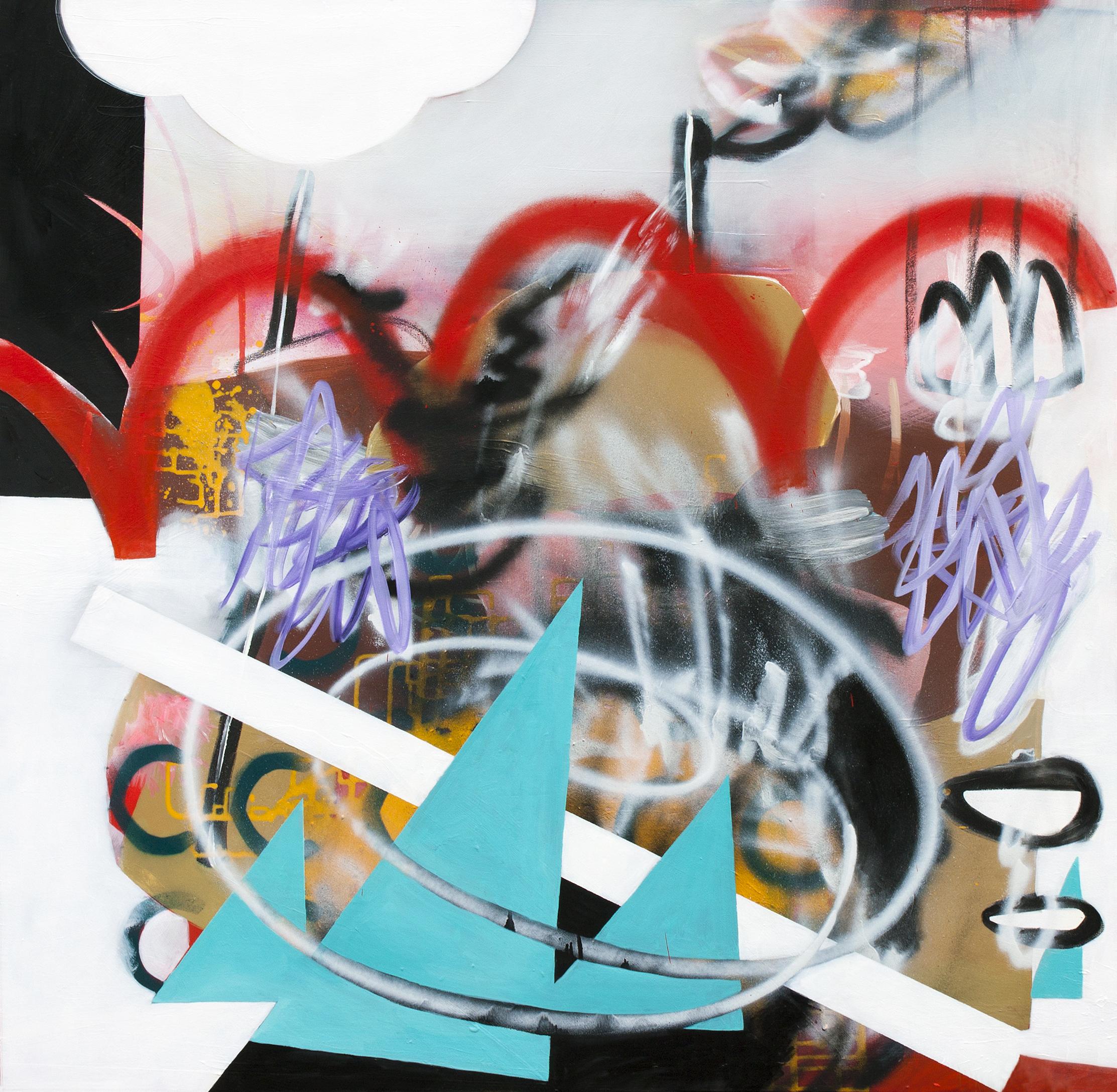 "Amplifier 2013, oil on canvas, 48"" x 48"""