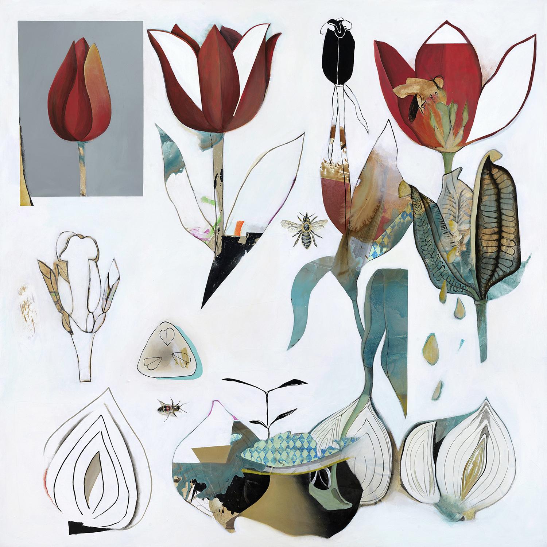 Tulip, (2019),   acrylic on canvas, 59 x 59 inches