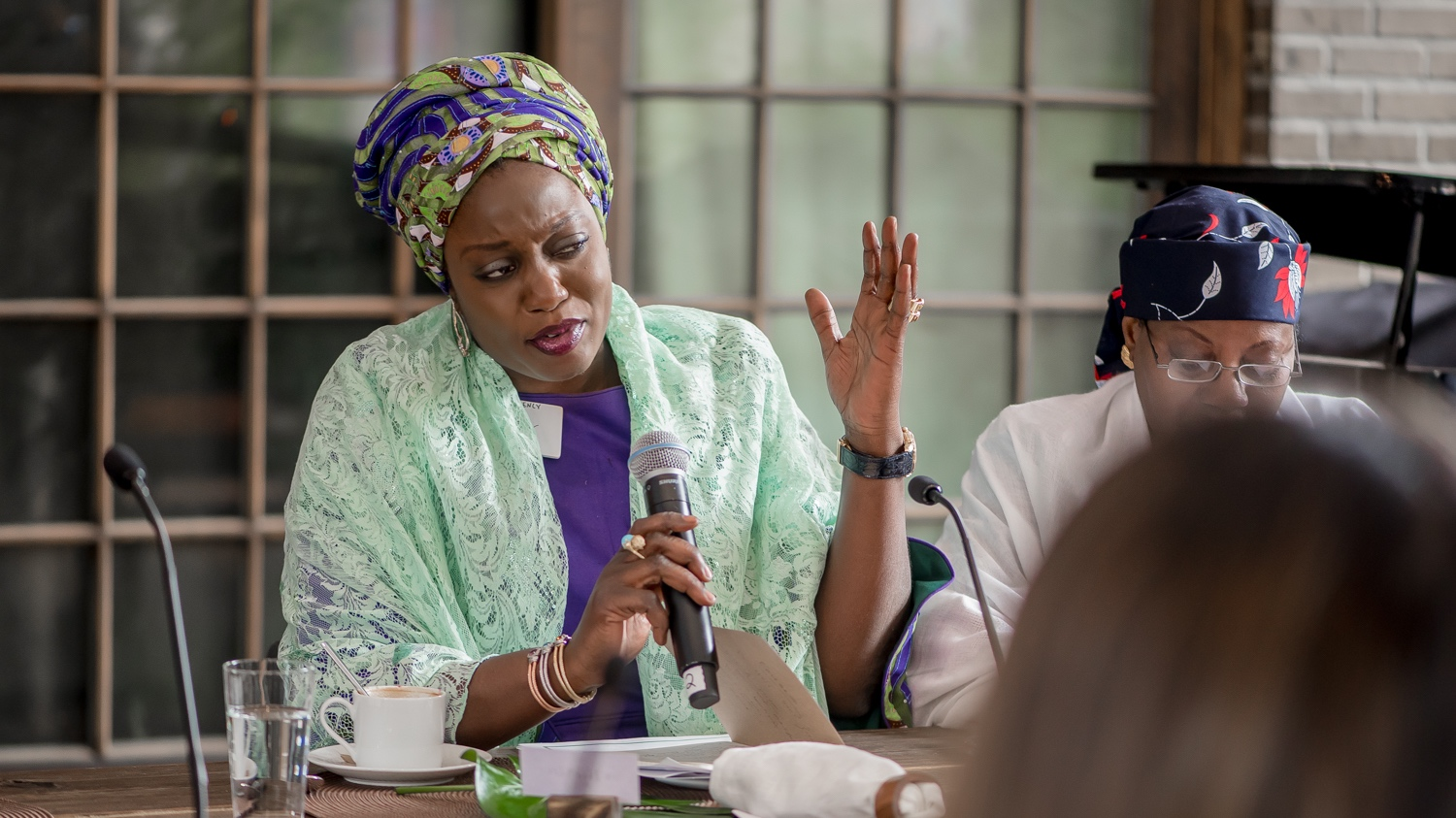 Photo of Mrs. Maryam Mairo Tambuwal, First Lady Sokoto State, Nigeria, during 2017 GFLA Annual Meeting.