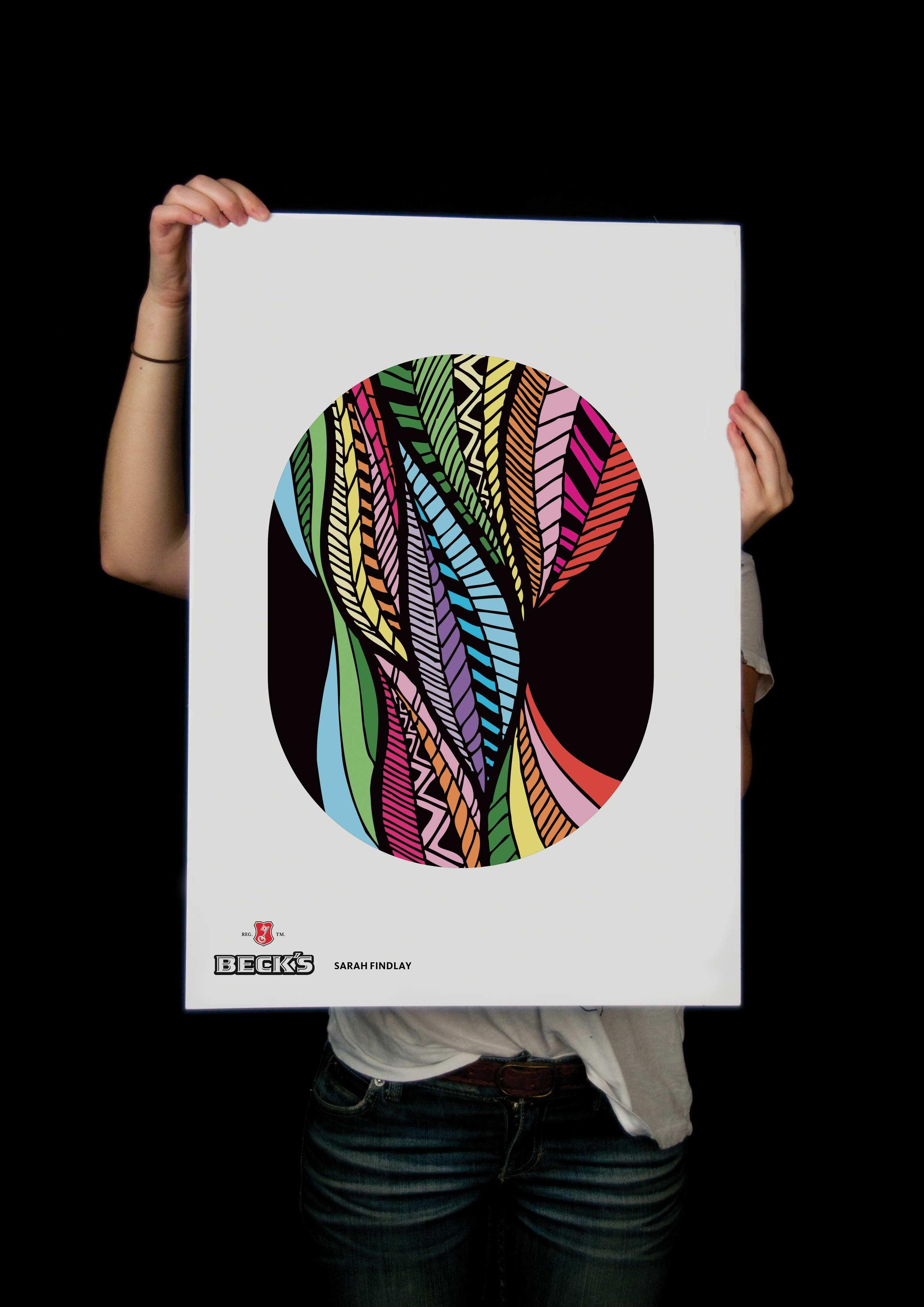 Sarah Findlay Beck's beer label poster