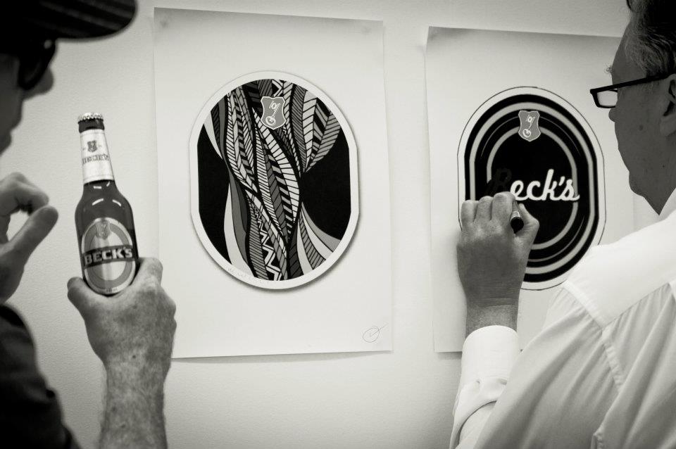 Beck's music inspires art entries