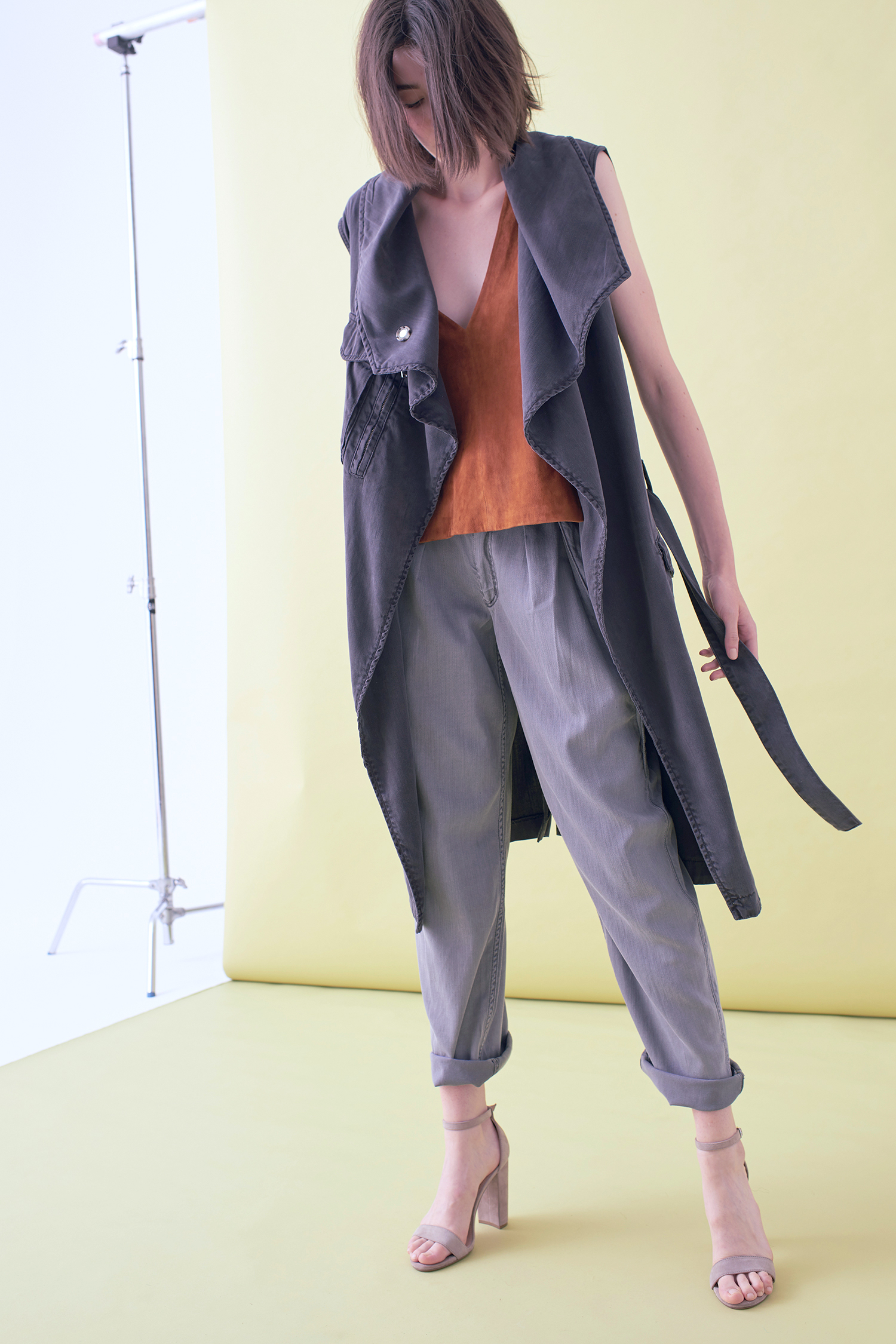 GARMENT DYED LONG JACKET