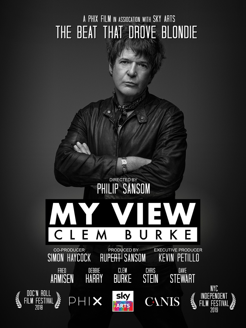 Clem Burke Doc Shows Up Strong to NYC Film Fest - My View: Clem Burke covers the life and career of the legendary Blondie drummer and Hall-of-Fame inductee. Packed with interviews with Clem and tons of other music icons, this film is a must-see for anyone who loves music and its history.Read more…