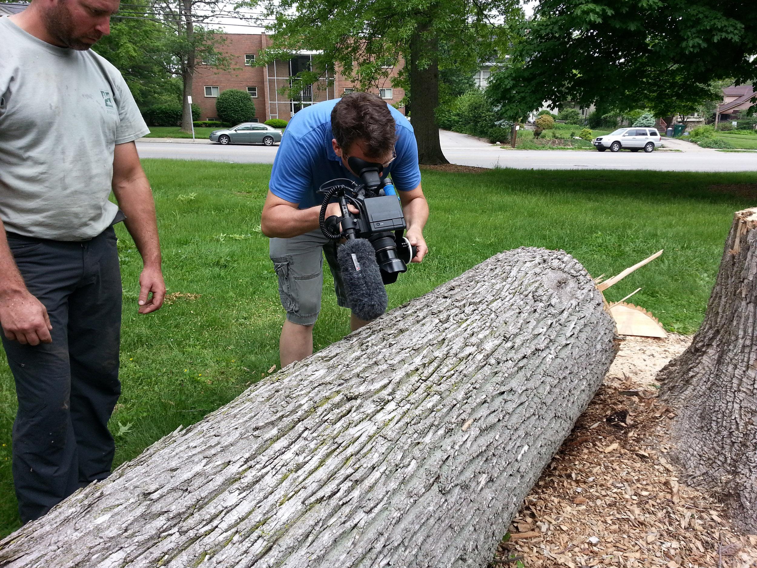Dave Morrison filming in Madison Park.jpg