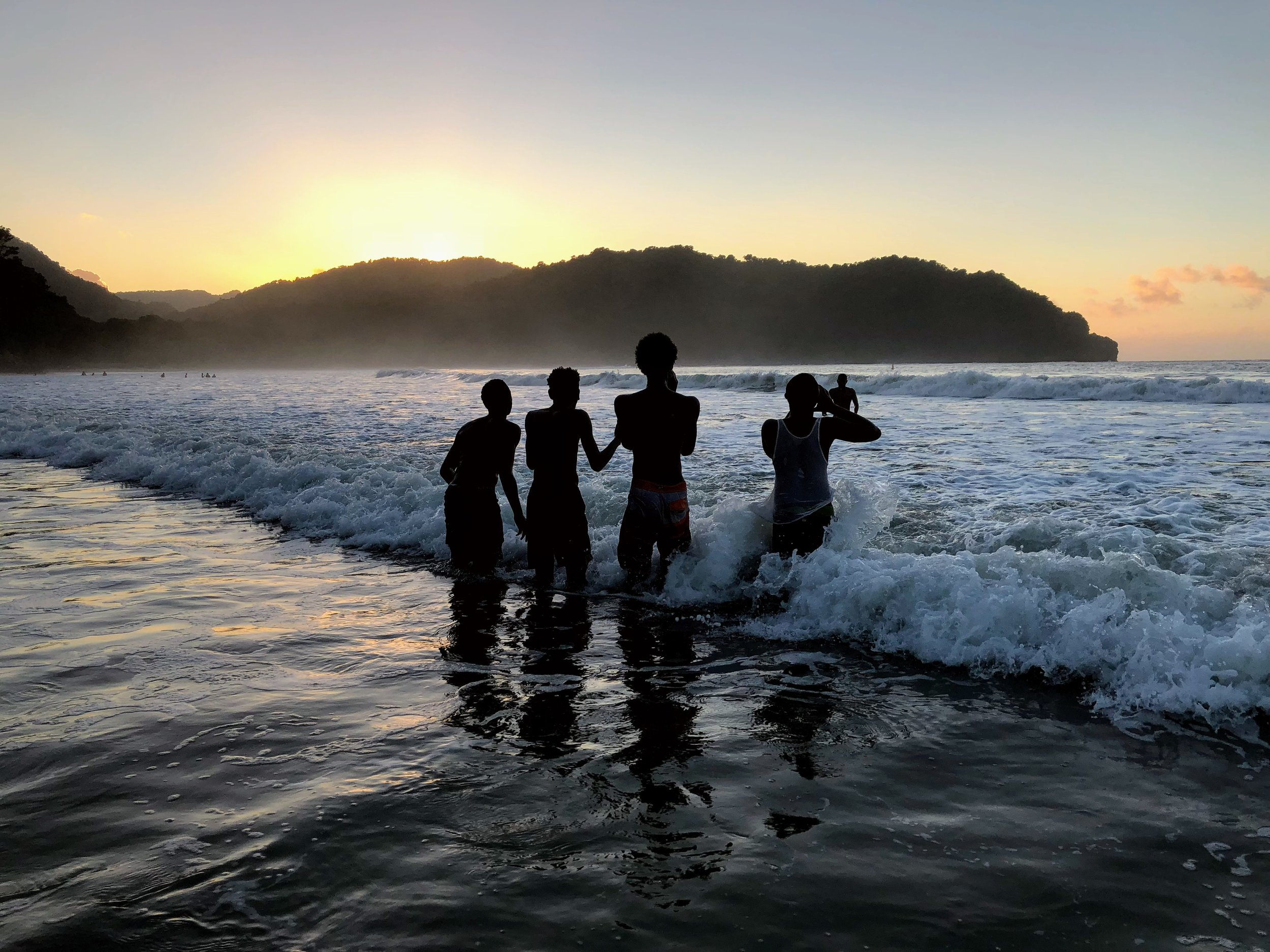 'Black Boys'  Las Cuevas Beach, Trinidad 12/10/17 @ 5:35PM