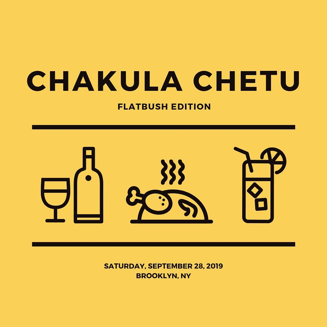"""Bring a dish to share. Bring a drink. Bring good vibes. We will handle the rest.""  - Chakula Chetu"