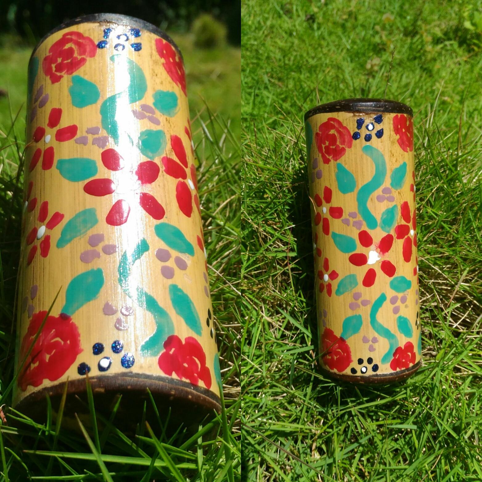 Painted Bamboo Stash Tubes