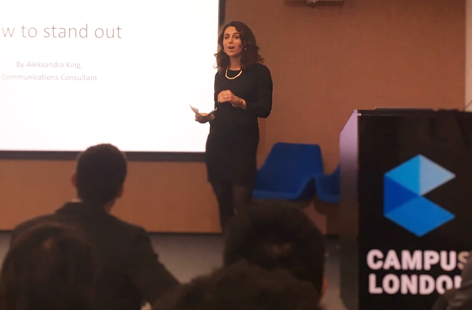 'How to Stand Out', delivered by Aleksandra King at Google Campus