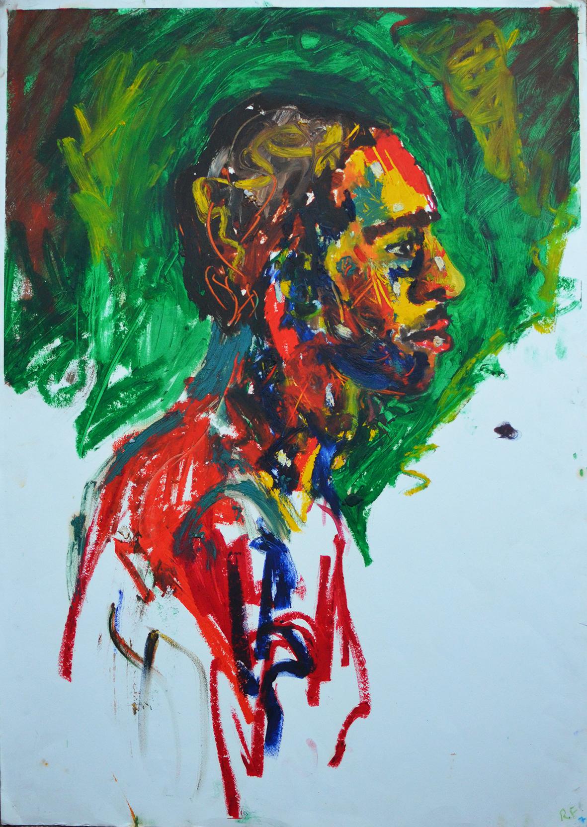Leon, Oil Bar on Paper, Hospitalfield Summer Schools, Arbroath