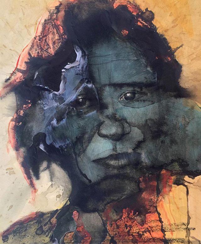 """Sylvia"". #painter #drawings #portraitphotography #portraits #watercolor #mixedmedia #colour #collage #pencilsketch #pencilsketchportrait"