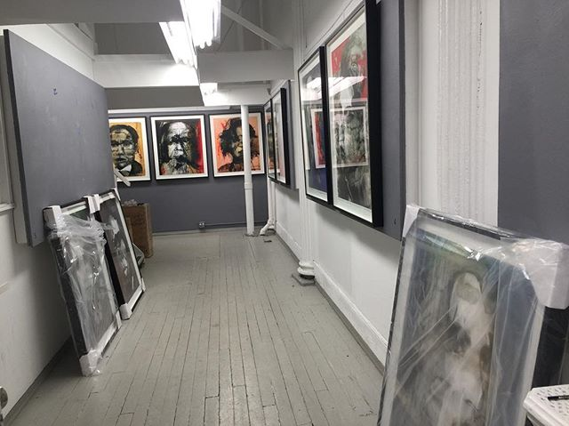 Almost finished hanging the show! Can't wait for you all to see it tomorrow. Stop by anytime between 6-8pm! . . . . . . #painting #painter #art #artist #nyc #soho #sohoart #photography #photonyc #artgallery #mixedmedia #paintmixing