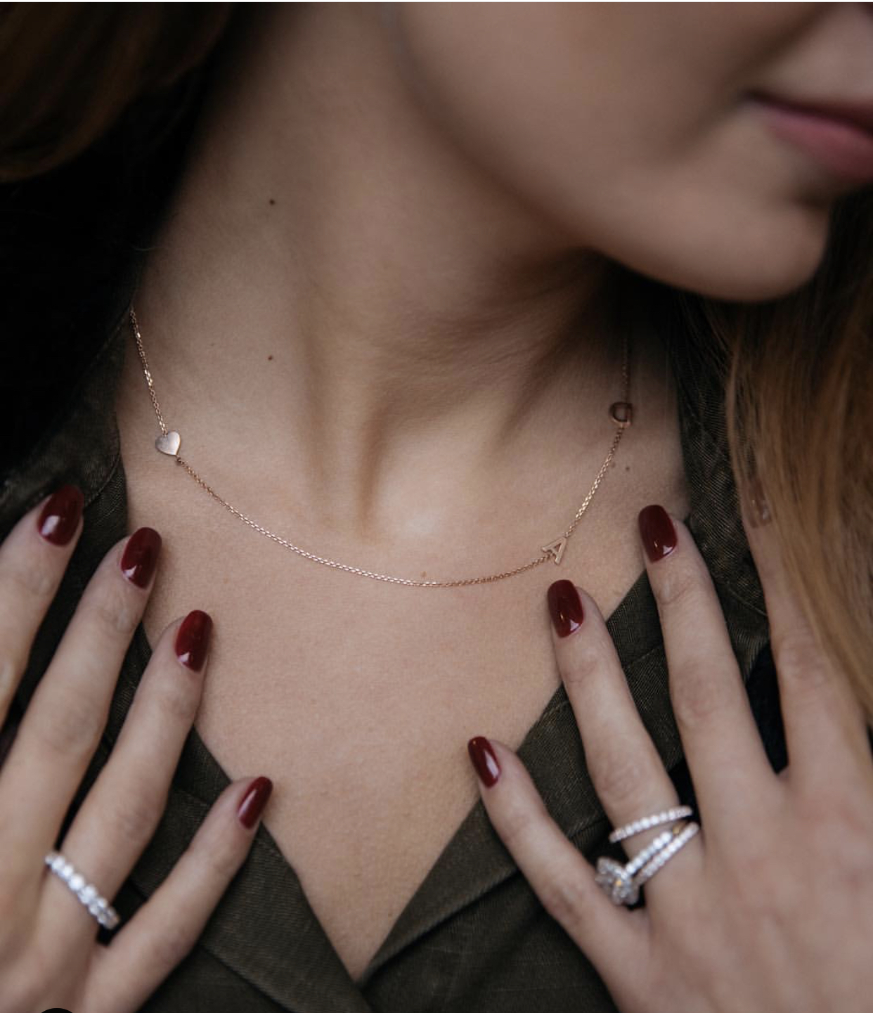Mini Initial & Heart Necklace  Photo: Isaac Mayer Fine Jewelry
