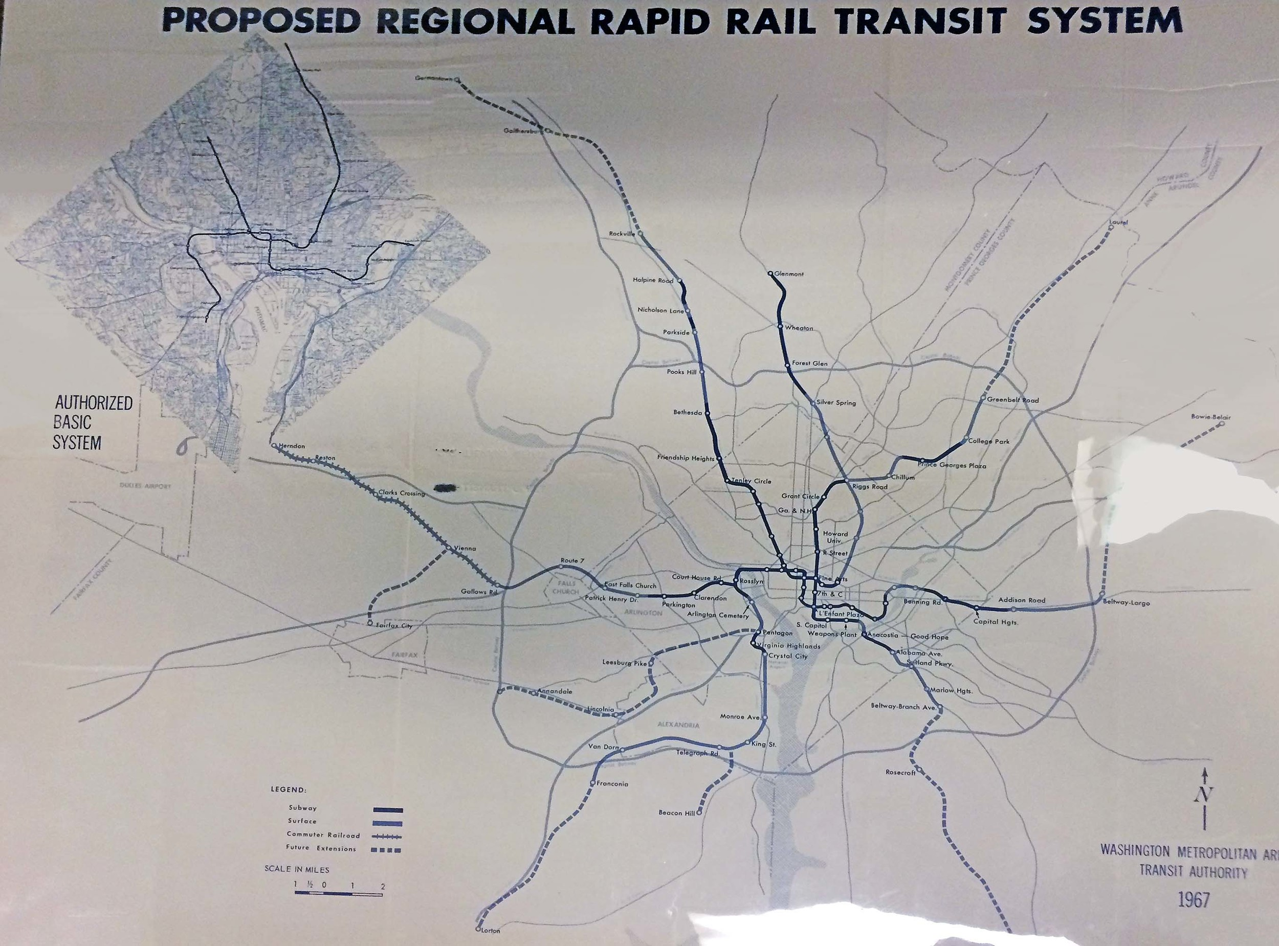 PROPOSED METRO MAP. ELLIOT CARTER PHOTO
