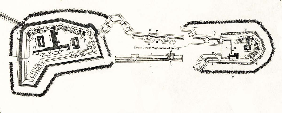Detailed view of Fort Reno. Library of Congress image