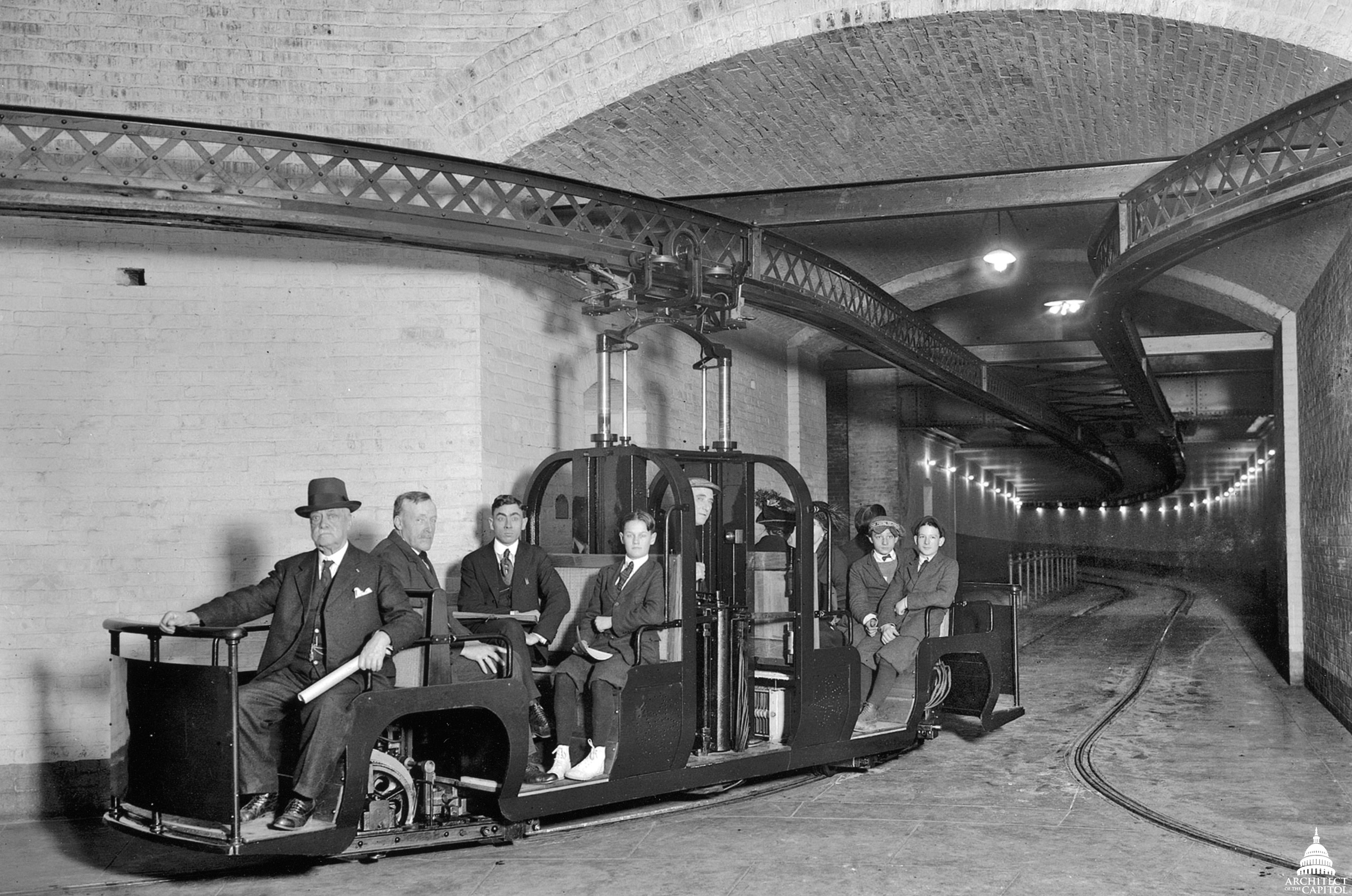 The early senate subway.  architect of the capitol  photo