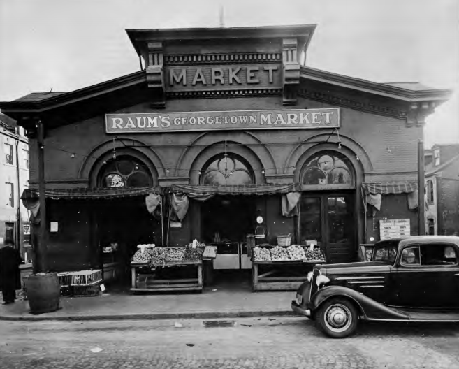 Georgetown Market circa 1937.  NPS  photo