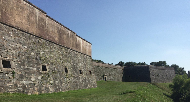 The southern facade of Fort Washington. Elliot Carter photo