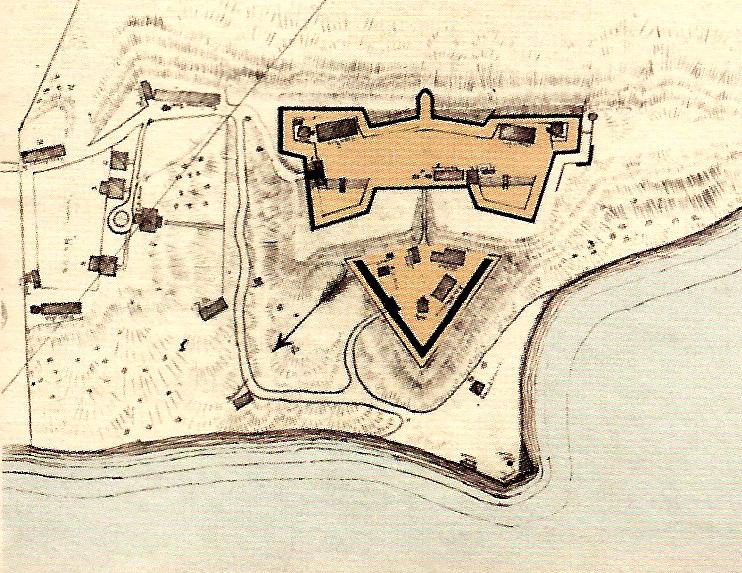 L'Enfant's plan for the fort.  National Park Service  image