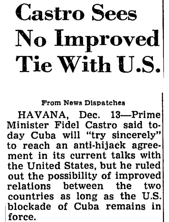 castro hijacking cuban embassy