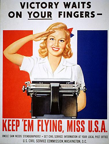 ROYAL TYPEWRITER COMPANY POSTER FOR THE CIVIL SERVICE COMMISSION
