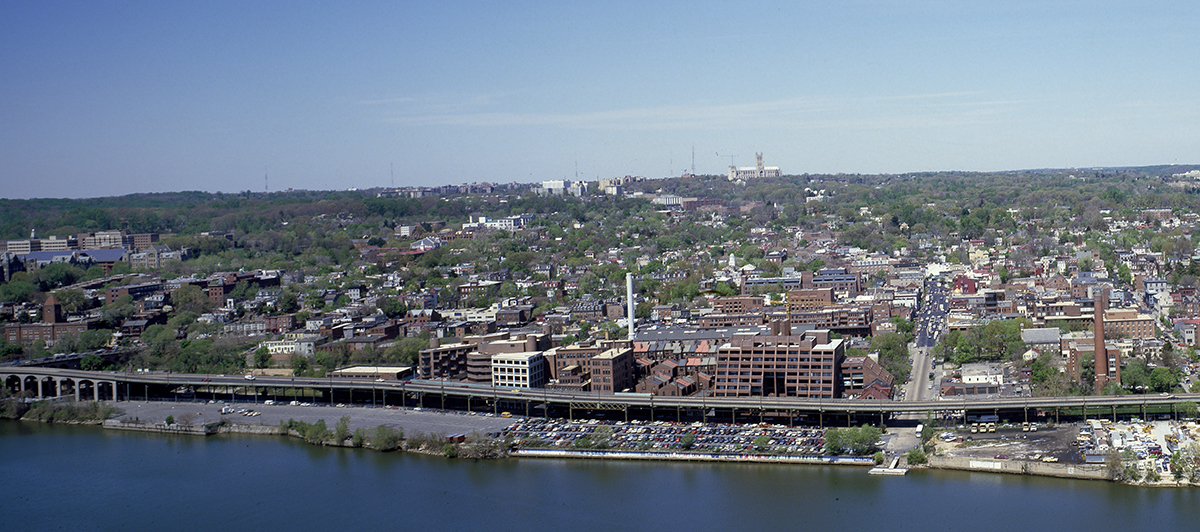 georgetown waterfront circa 1980.  Carol Highsmith  photo