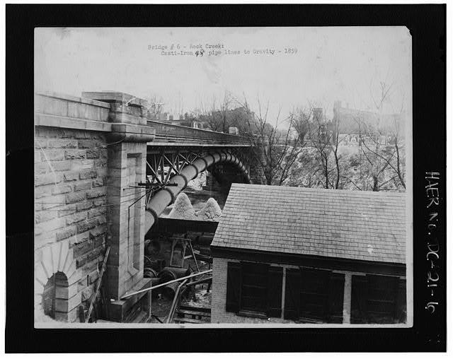 Pennsylvania Avenue Aqueduct in 1859.  Library of Congress  photo