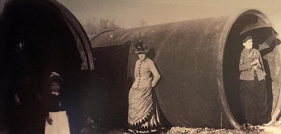 Washington Aqueduct pipes.Library of Congress photo