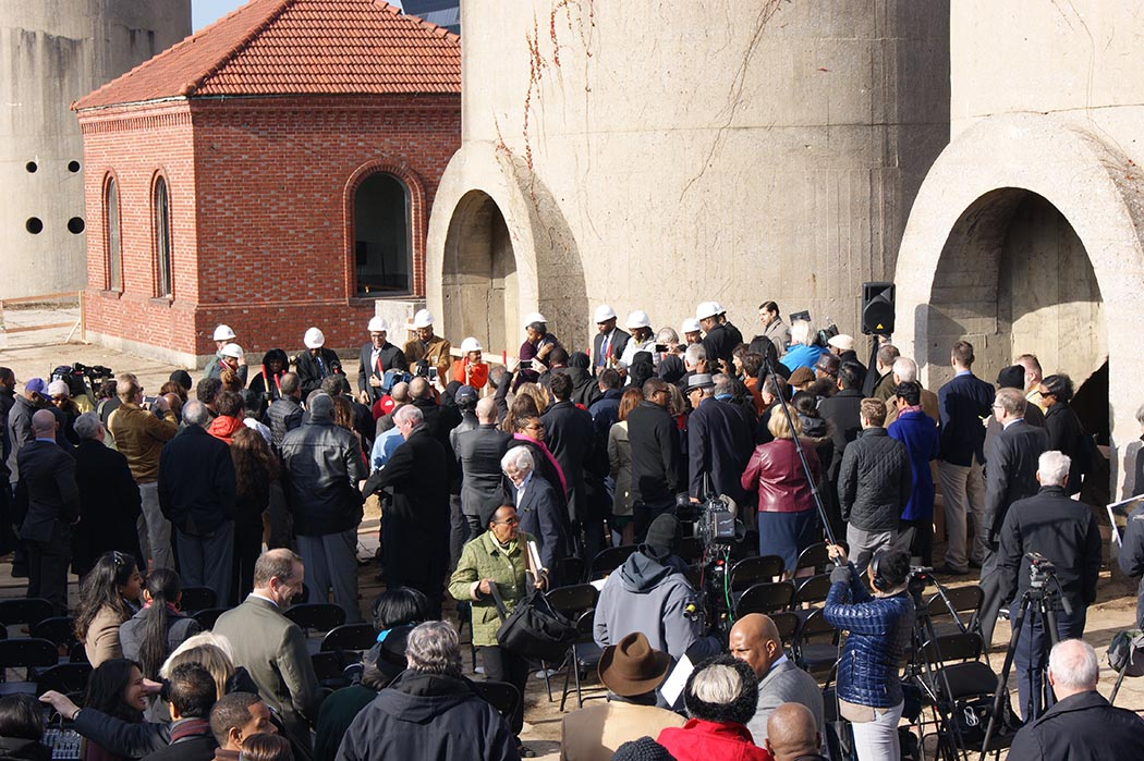 Groundbreaking at the McMillan Sand Filtration Site. Elliot Carter photos