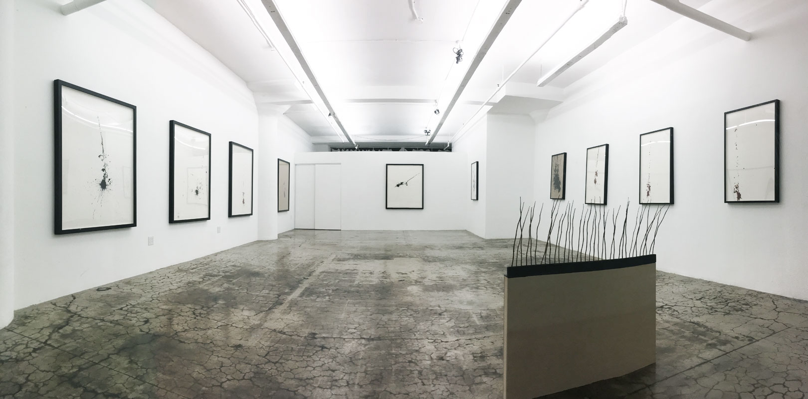 Gerald Giamportone Installation at PØST, 2016. Courtesy of HK Zamani.