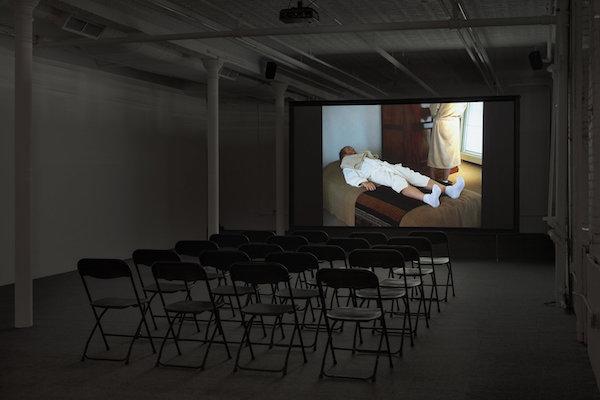 Installation view: Jos de Gruyter and Harald Thys,  Xanax Film Festival , Gavin Brown's enterprise, New York, February 25 – April 30, 2017. Courtesy Gavin Brown's enterprise.