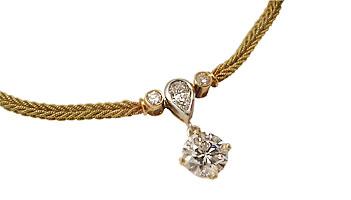 18 Karat Platinum & Diamond Necklace