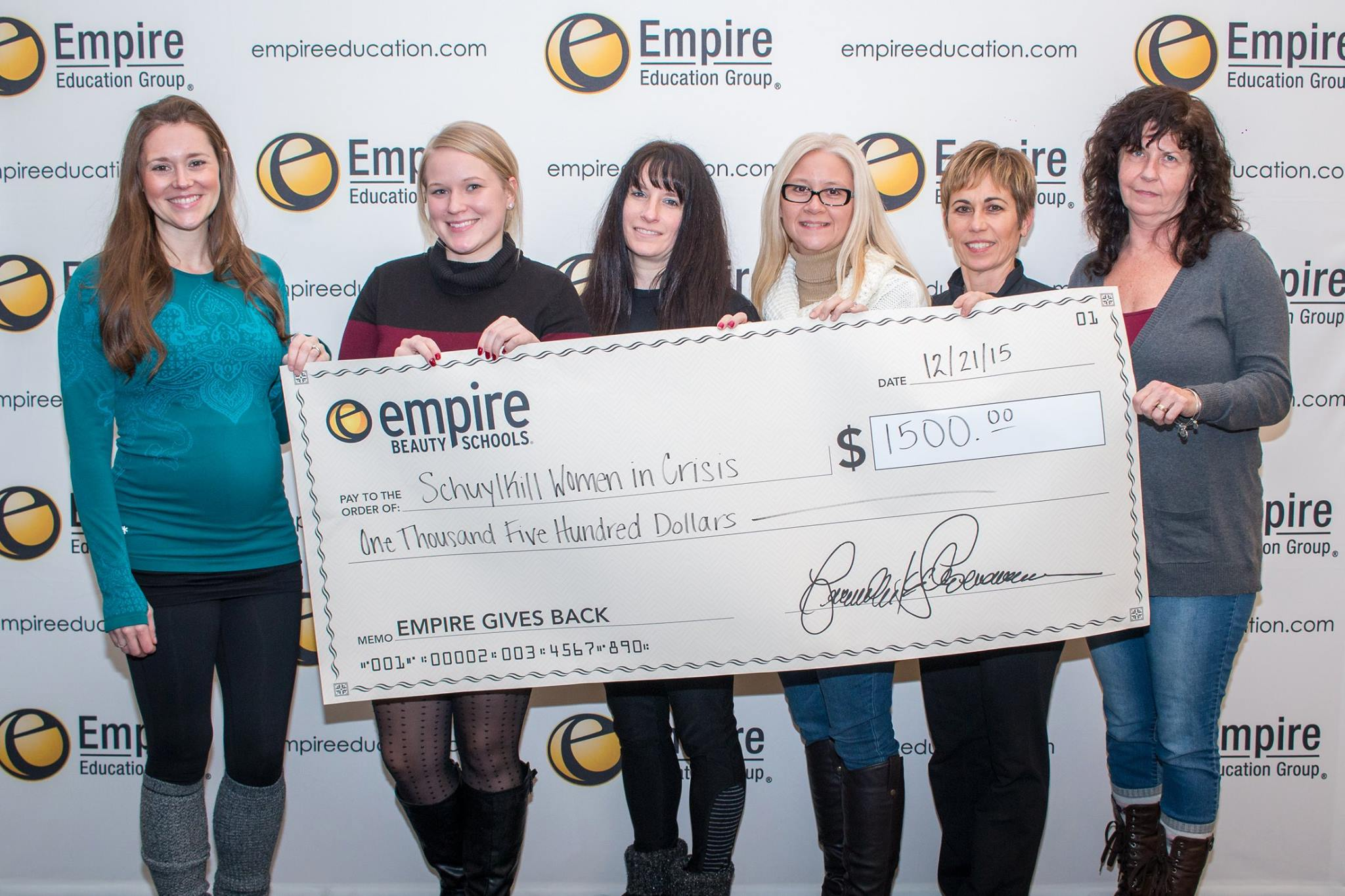 Yoga Fundraiser for Schuylkill Women in Crisis - pictured here Empire Education Group Co-Workers