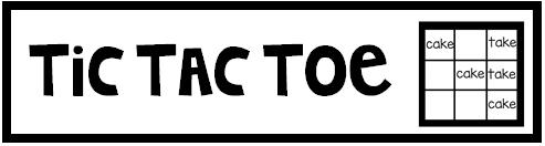 Materials: Spelling Words, Dry Erase Marker, Eraser, Tic-Tac-Toe Template