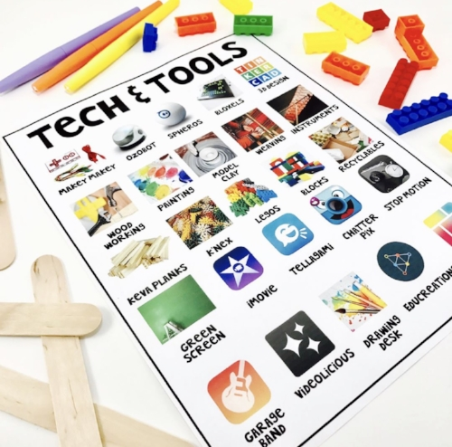 Download this free tech & tools choice board to use in your classroom! :-)