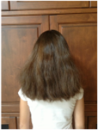 1.De-tangle hair (wet or dry) to make the hairstyle easier and to eliminate bumps.
