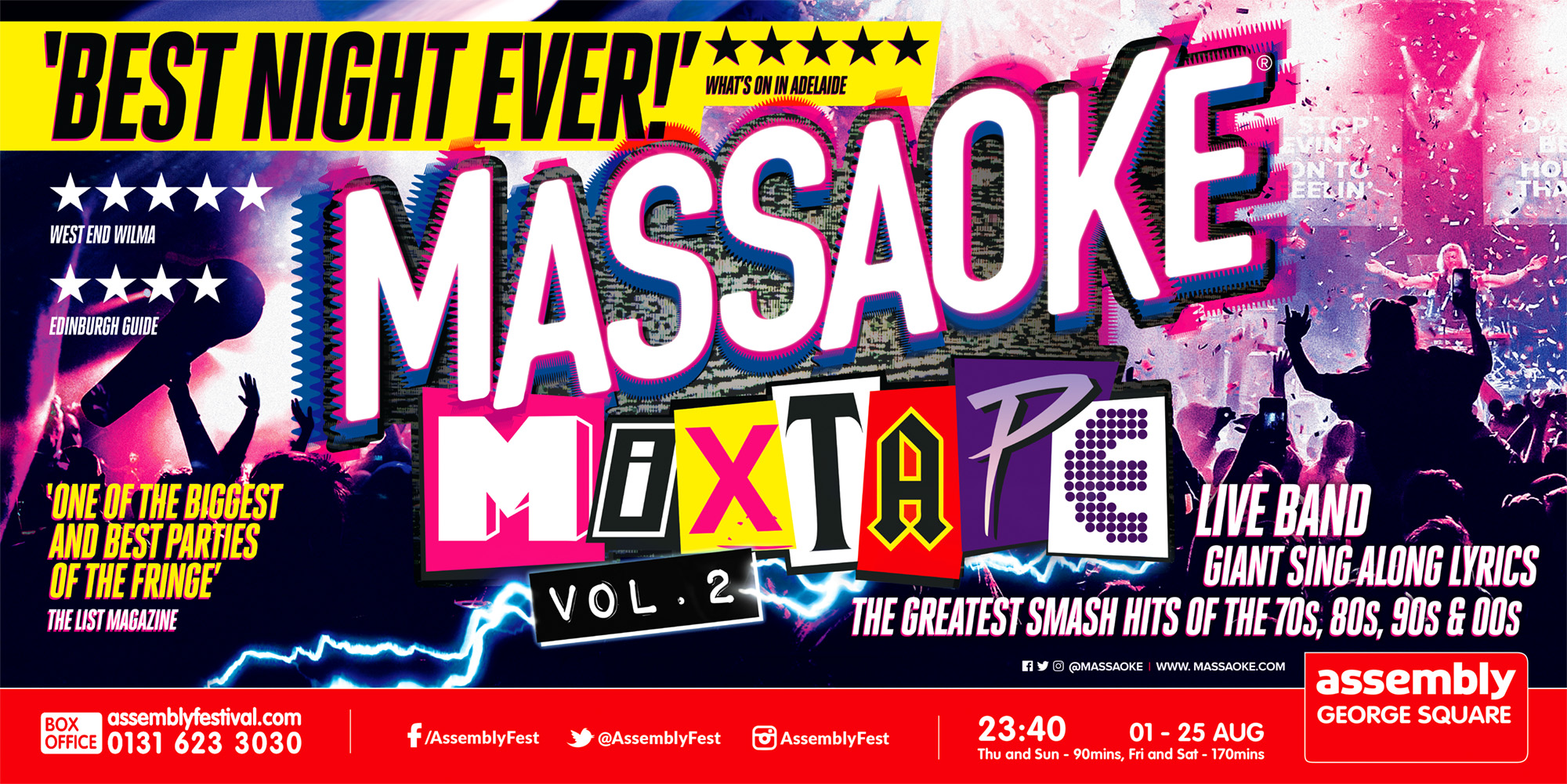 Edinburgh Fringe - Massaoke Mixtape — Massaoke