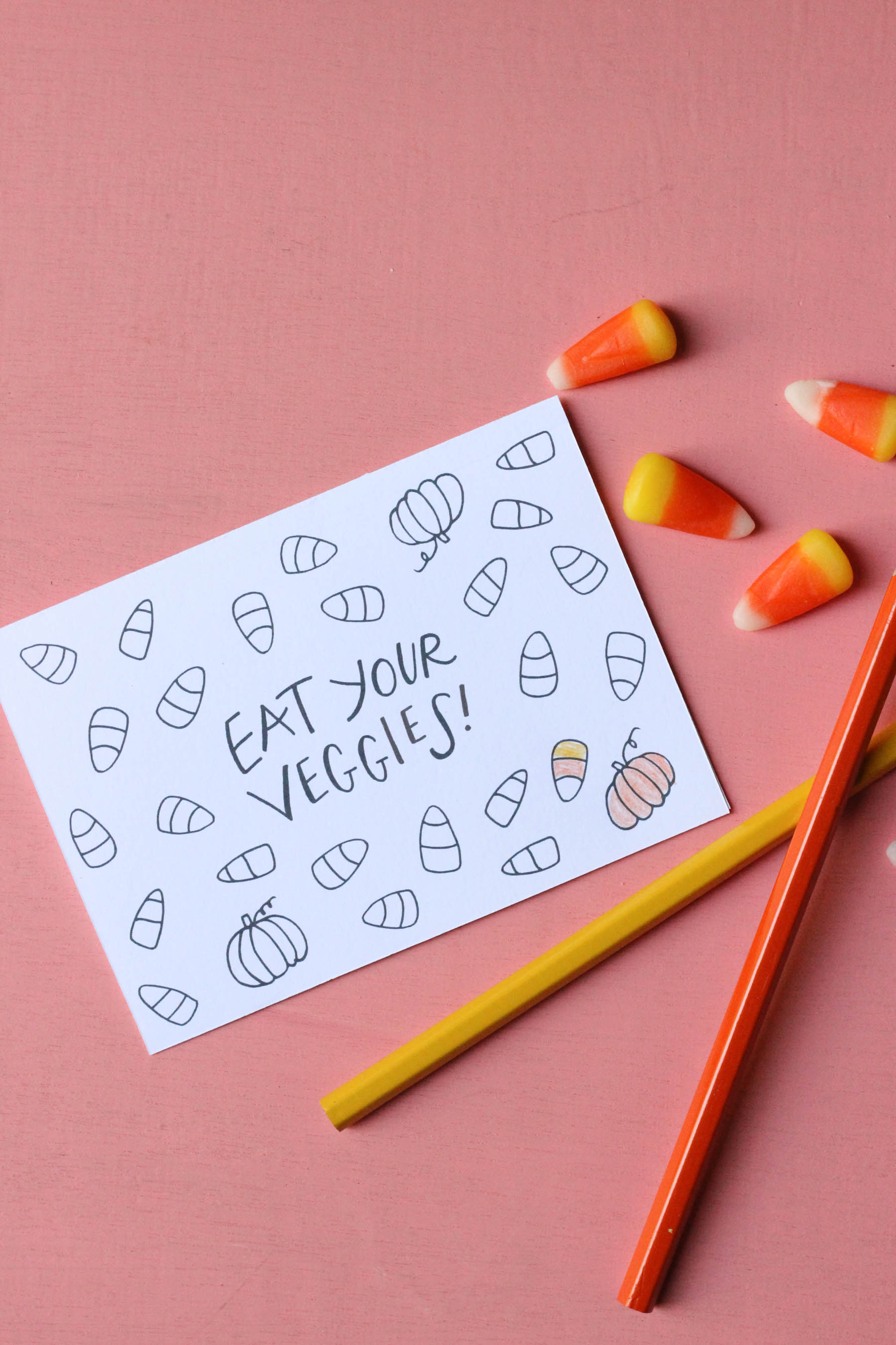 Candy Corn Coloring Page by Mads Beaulieu