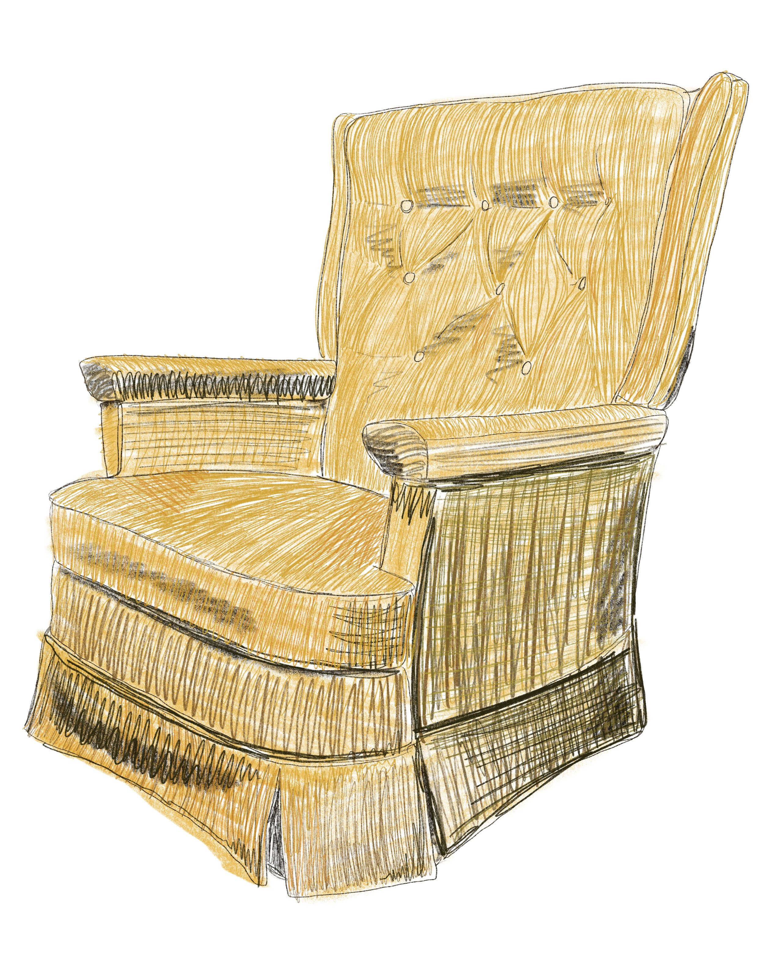 Chair Illustrations by Mads Beaulieu